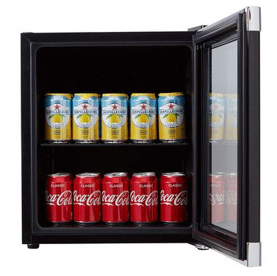 haier black mini fridge