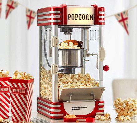 Popcorn Machine In Red And White Stripes