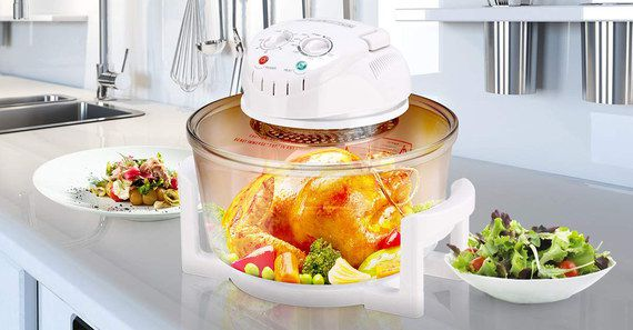 Halogen Oven With White Cover