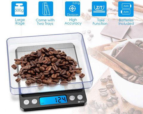 Digital Food Scale With Blue LCD