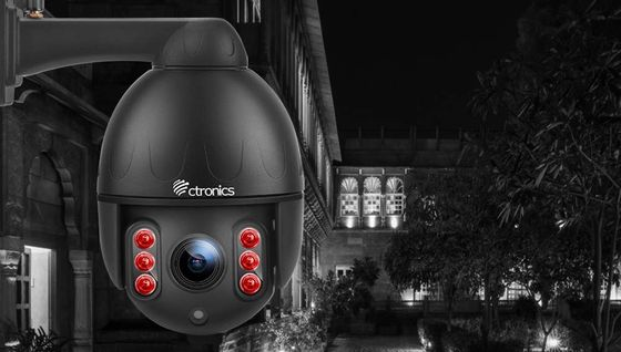 Outdoor PTZ Dome Camera In All Black
