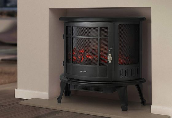 Fake Wood Burner Stove With Curved Door