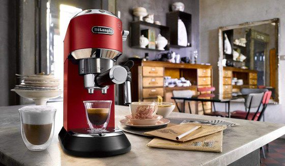 Domestic Espresso Machine In Red