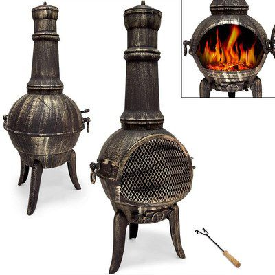 Large Chiminea Heater On 3 Legs