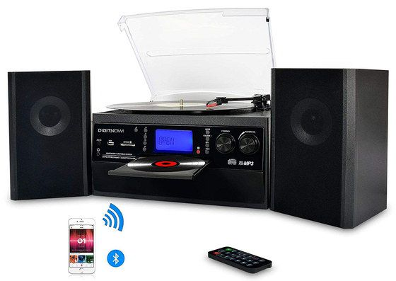 Music System With 2 Big Black Speakers