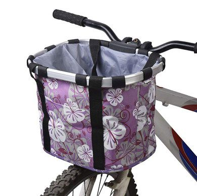 Cycle Basket Pet Carrier With Floral Design