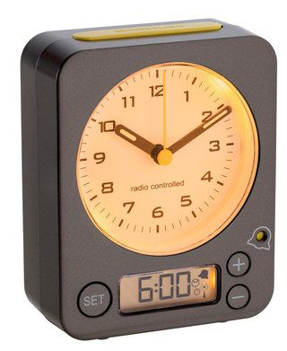 Radio Controlled Desk Clock With Bright Hands