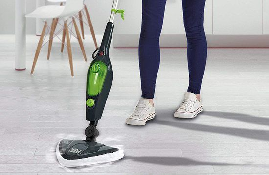 Steam Mop For Wood With Black Handle