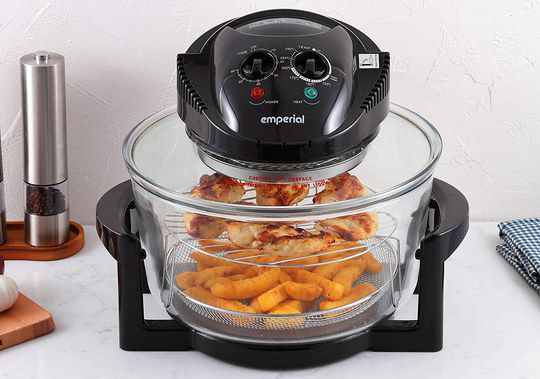 Small Halogen Oven In Black On Desk