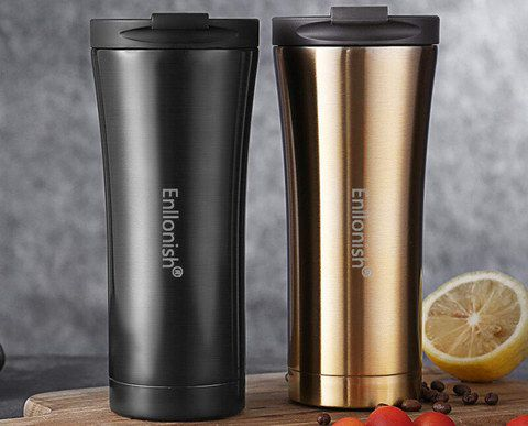 Hot Drink Travel Mug In Black And Copper