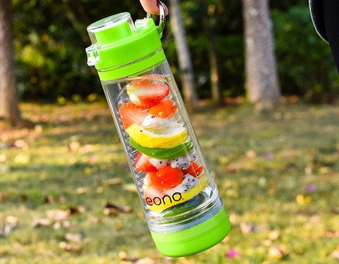 Infuser Water Bottle With Metal Handle
