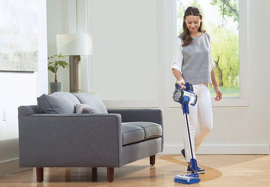 Vacuum Stick With Hand Cleaner In Blue