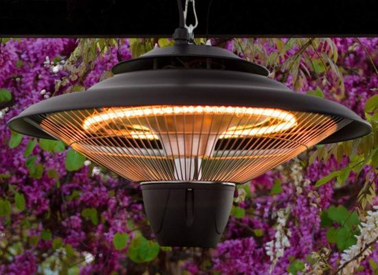 Black Round Patio Heater In Ceiling Style