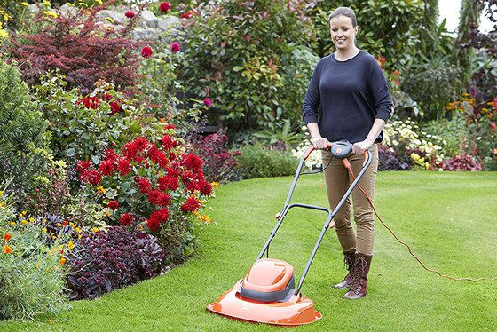 Powerful Electric Mower In Red