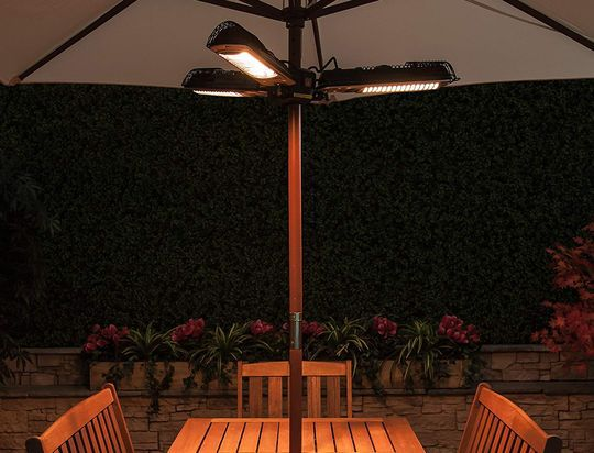 Patio Electric Heater With Black Exterior