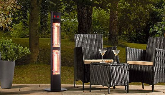Tall Electric Garden Heater In Black