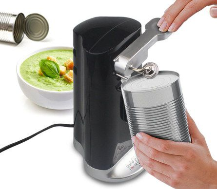 Electric Tin Opener With Curved Base
