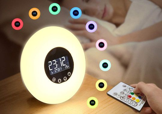 Natural Light Alarm With Small Remote Device