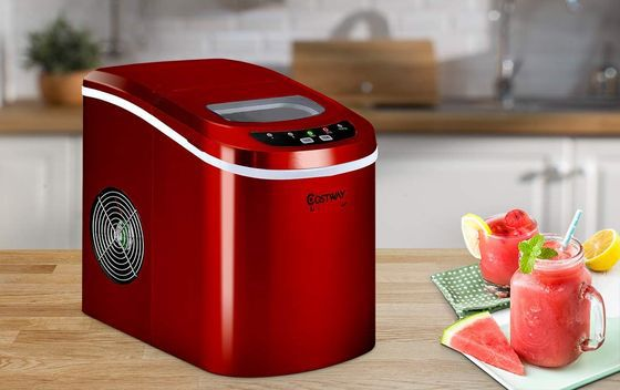 Portable Ice Maker With Red Finish