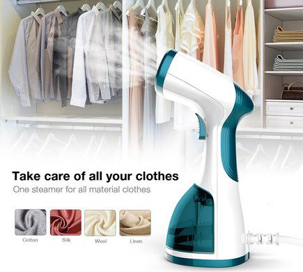 Hand Mini Clothes Steamer With Blue Trigger
