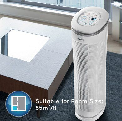 HEPA Filter Air Purifier In Tall Upright Style