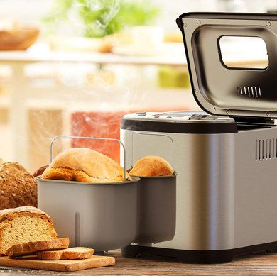 Bread Maker With Steel Cover