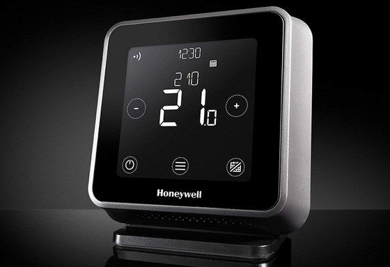 Honeywell Thermostat On Black Stand