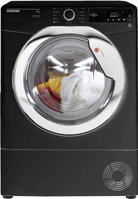 Freestanding Black Condenser Dryer With Big Dial