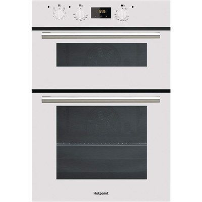 White Double Oven Electric Powered