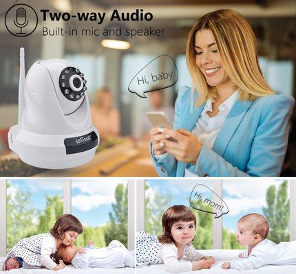 White WiFi Indoor Camera With Mic