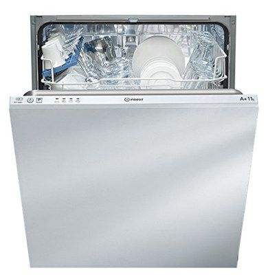 White Integrated Dishwasher With Open Door