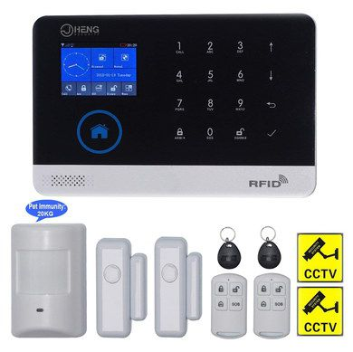 Intruder Alarm With Black Keypad
