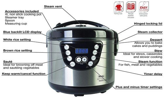 Electric Rice Cooker With Top Steam Lid