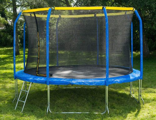 Blue And Yellow Sports Trampoline