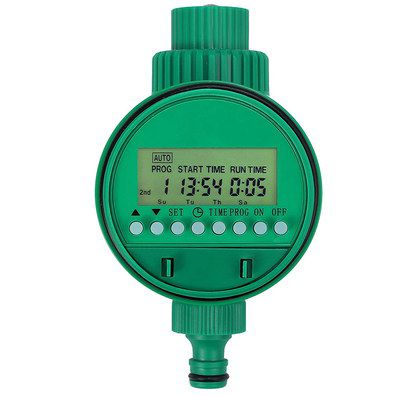 Irrigation Timer In Bright Green