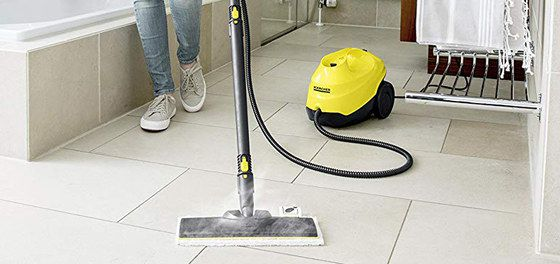 Electric Mop With Yellow Tank