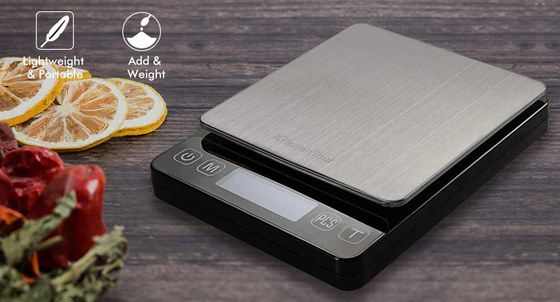 Electronic Food Scale With Steel Weighing Area