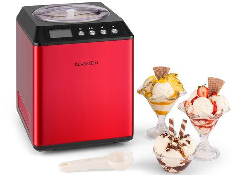Electric Ice Cream Maker With Red Exterior