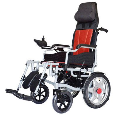 Small Power Wheelchair In Red And Black