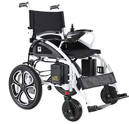 Electric Wheelchair With Black Wheels