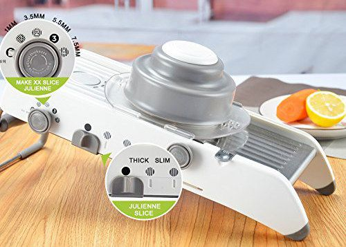 Mandoline Julienne Slicer With Thickness Dial