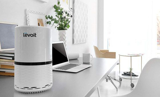Room Air Purifier In White Finish