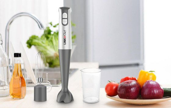Blender For Soup In Chrome And Grey Finish