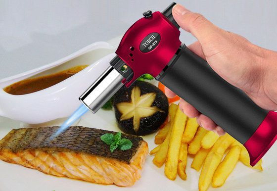 Hand-Held Blow Torch In Red And Black