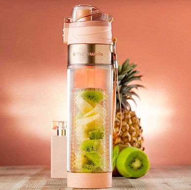 Infuser Drink Bottle With Steel Trim