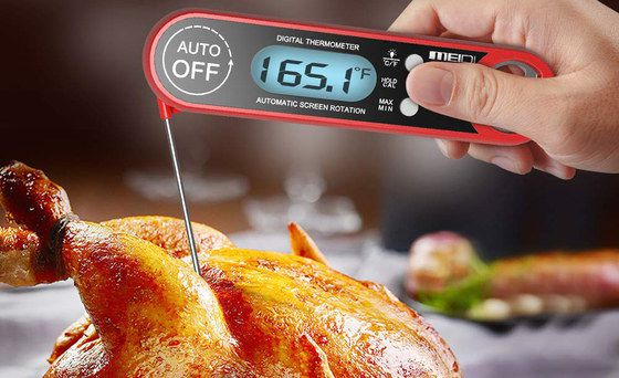 Cooking Thermometer With Blue LCD