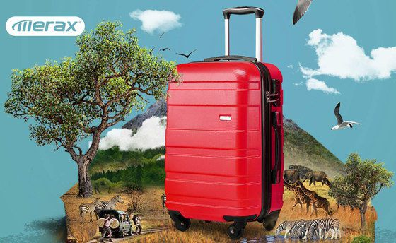 Flight Hand Luggage In Bright Red