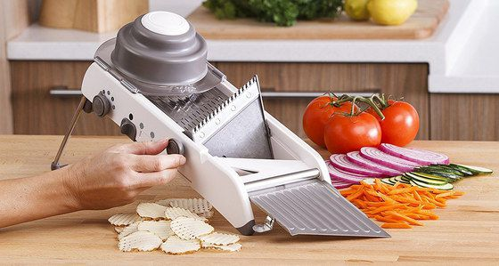 Mandoline Slicer In White Finish