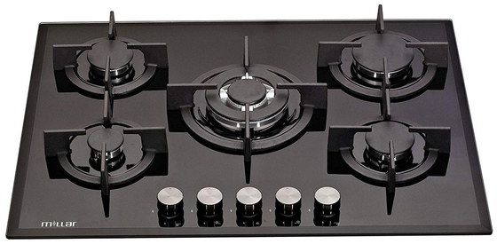 Black Glass Hob With Front Settings
