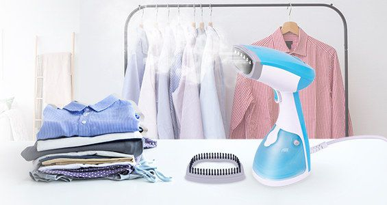 Fabric Steamer In White And Blue